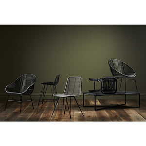 Tango Leaf Occasional Chair - Black / Black