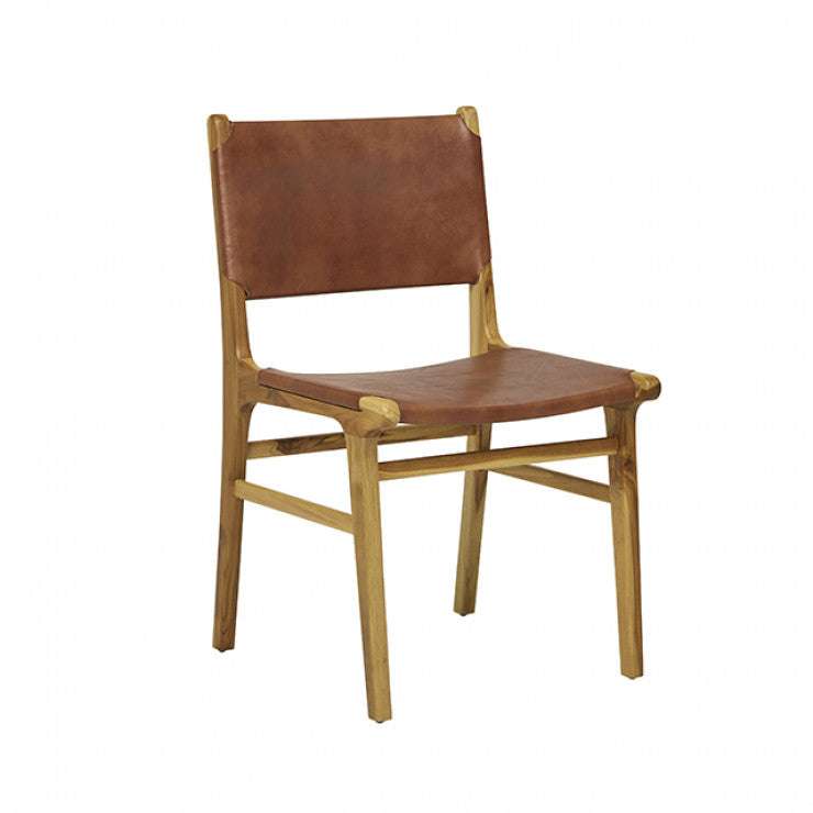 Wilke Leather Dining Chair - Tan