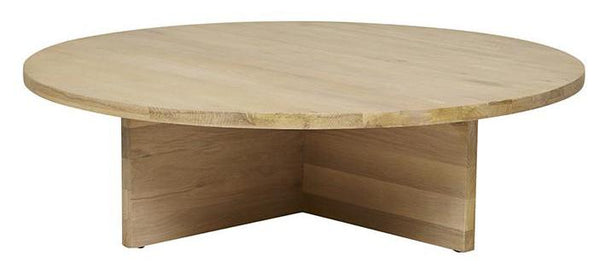 Aiden Round Coffee Table - Natural Oak