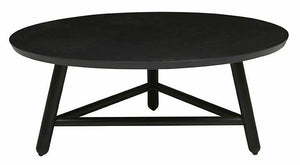 Linea Tri Base Coffee Table - Charcoal
