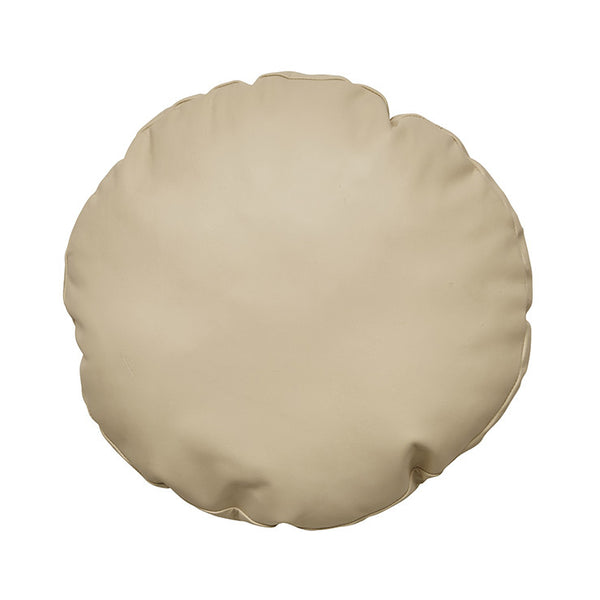 Indie Leather Round Tan Cushion