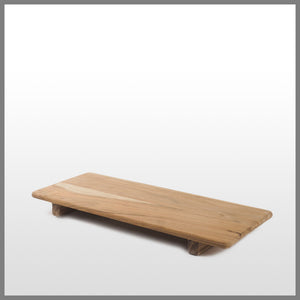 Acacia Wood Rectangle Board w/Feet medium