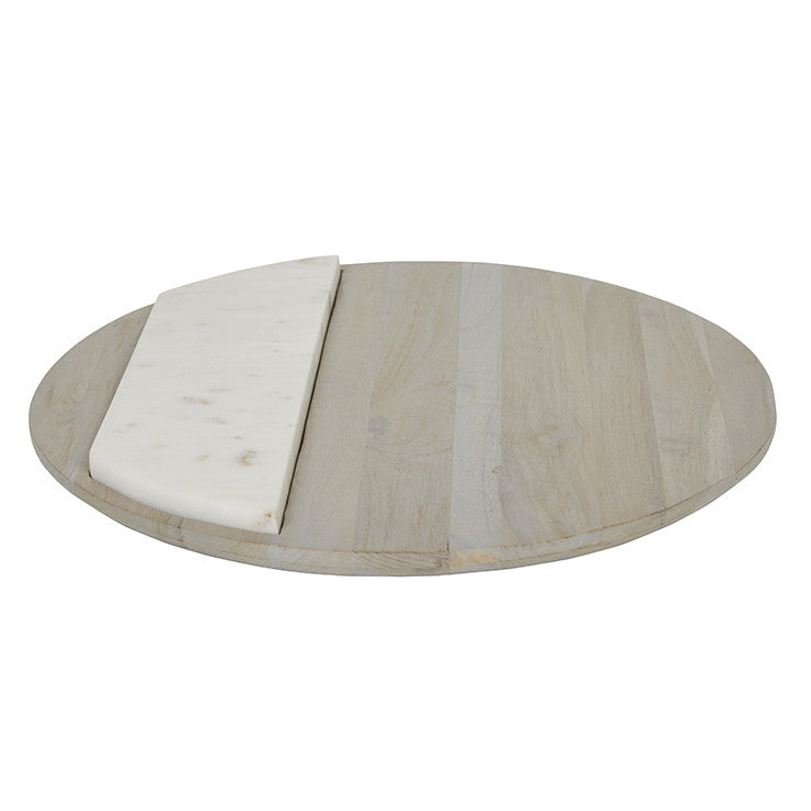 Fleur Round Marble Cheese board