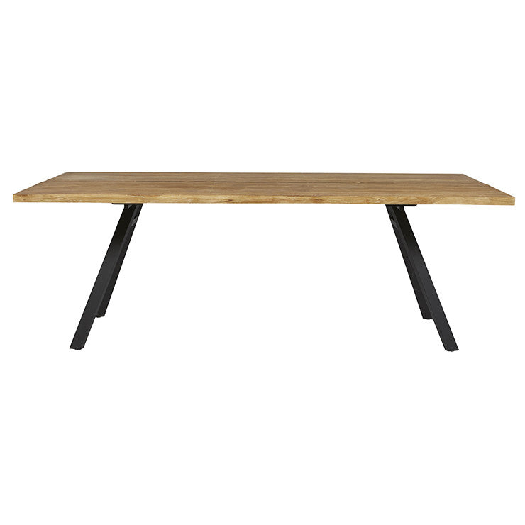 Drake Metal Leg Dining Table - Black