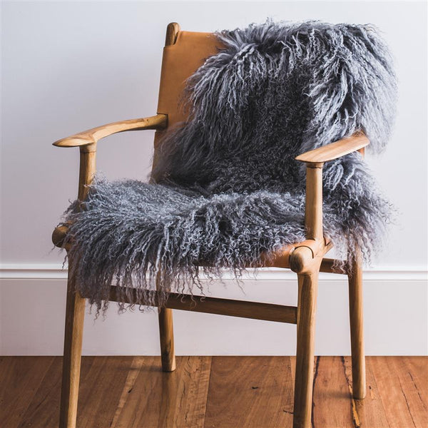 MONGOLIAN SHEEPSKIN - GREY