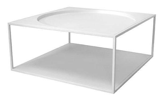 Steel Coffee Table - White