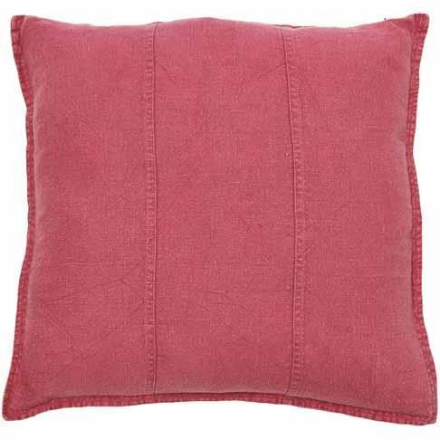 Luca Linen Cushion Bright Pink