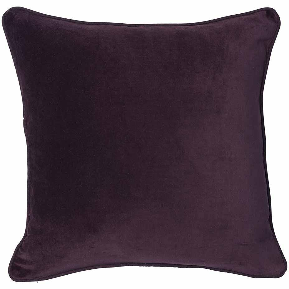 Lynette Velvet Cushion Burgundy