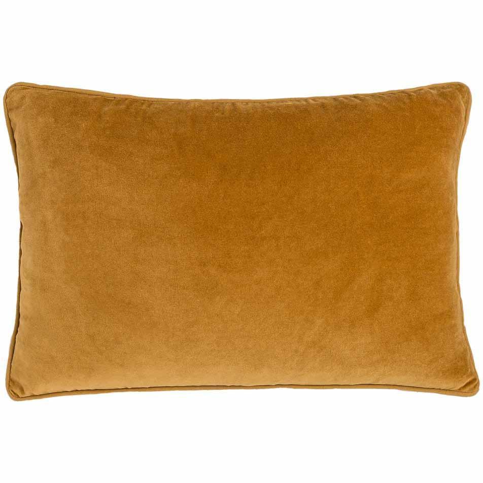 Lynette Velvet Rectangle Cushion Mustard