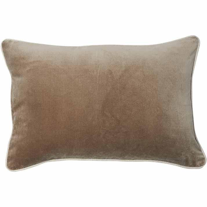 Lynette Velvet Rectangle Cushion Natural