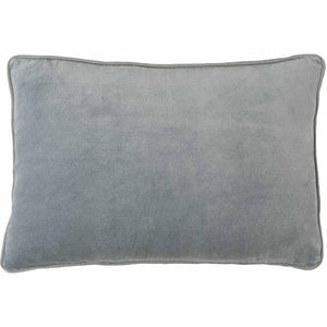 Lynette Velvet Rectangle Cushion Silver Grey