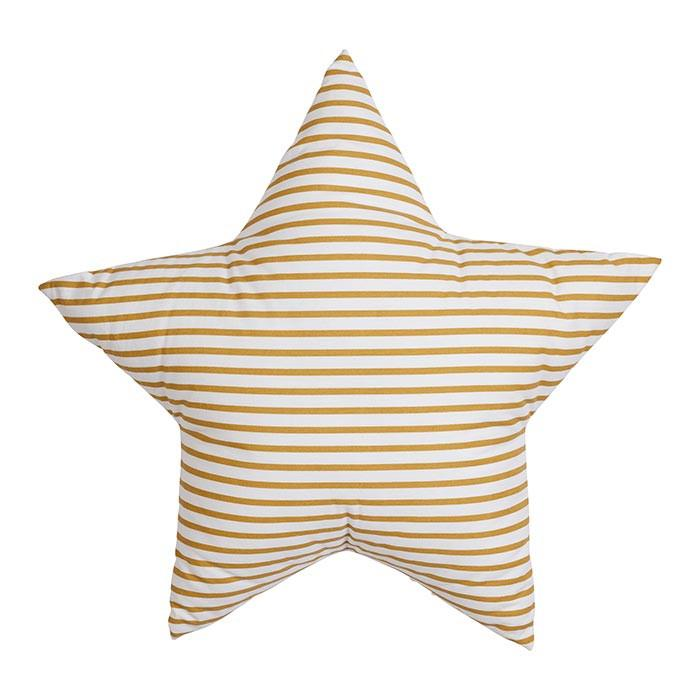 Mustard Stripe Star Cushion