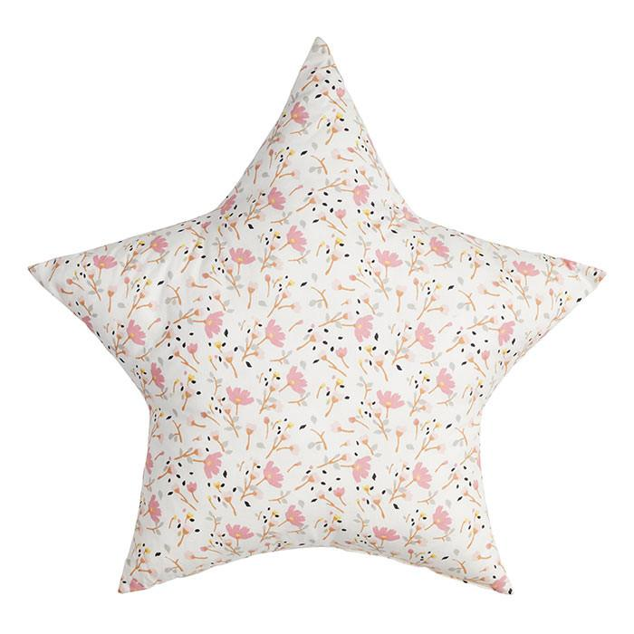 Floral Print Star Cushion