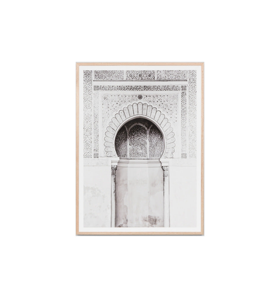 Moroccan Arch Neutral Framed Print