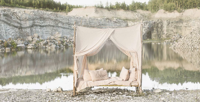 Numero 74 Bed Drape Double - Natural