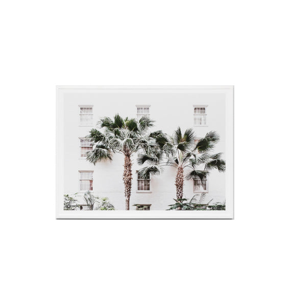 Palm Resort Framed Print