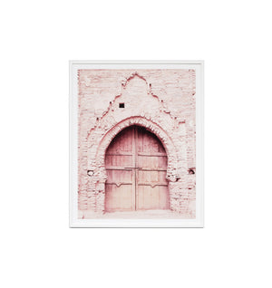 Pink Door Framed Print