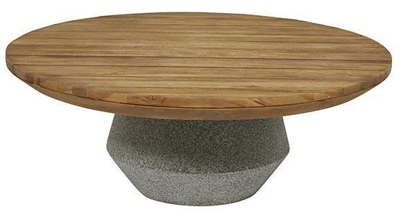 Captivating Cabo Round Concrete Coffee Table