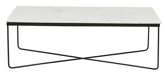 Taj Rectangular Marble Coffee Table