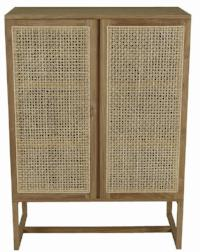 Willow Woven Storage Unit - Teak