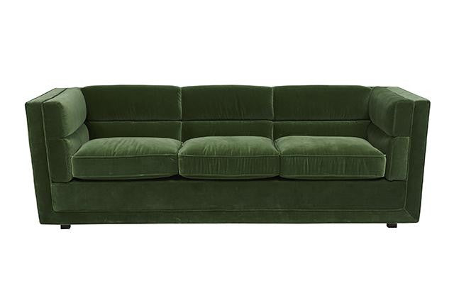 Bogart Block Sofa - Forest Green