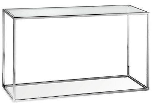 Elle Cube Console - Polished Stainless Steel