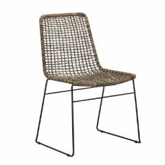 Olivia Open Weave Dining Chair - Grey Wash