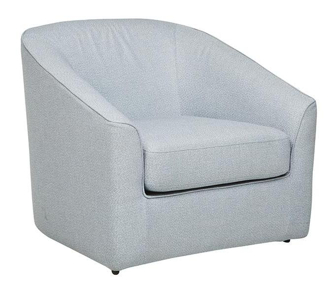 Felix Lounge Sofa Chair - Blue Tweed