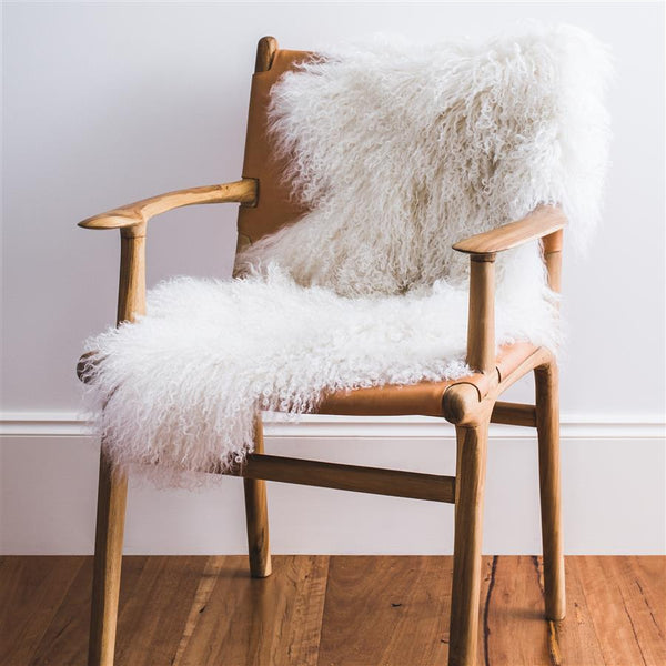 MONGOLIAN SHEEPSKIN - WHITE