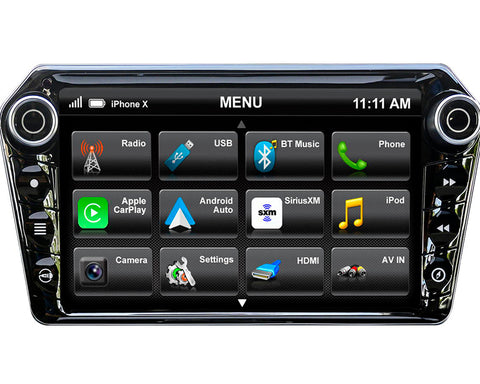 "Stinger ELEV8 8.0"" Big Screen Experience AV Receiver w/Apple CarPlay & Android Auto"