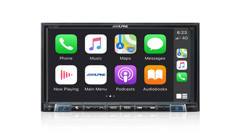 "Alpine ILX-702D 7.0"" 2DIN AV Receiver w/Apple CarPlay & Android Auto"