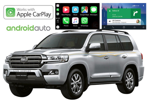 Apple CarPlay/Android Auto Add-On for Toyota LandCruiser 200