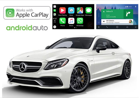 Apple CarPlay/Android Auto Add-On for Mercedes Benz C Class 2014-Up