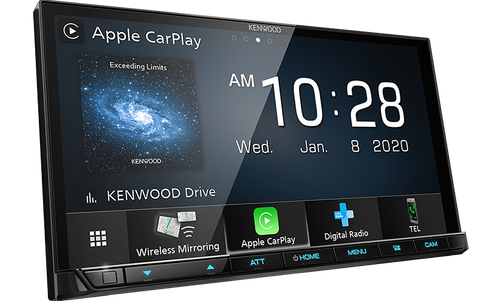 "Kenwood DMX8520DABS 2DIN 6.8"" AV Receiver w/Apple CarPlay & Android Auto Wireless"