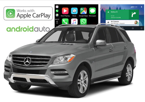 Apple CarPlay/Android Auto Add-On for Mercedes Benz M Class 12-14