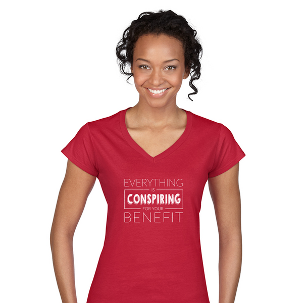 The Positive Thinking Secret V-Neck Shirt For Women