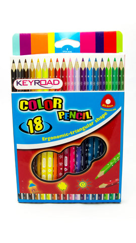 Picture of Keyroad Junior Tri Color Pencil-18c