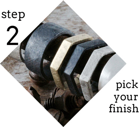 step 2 pick your finish