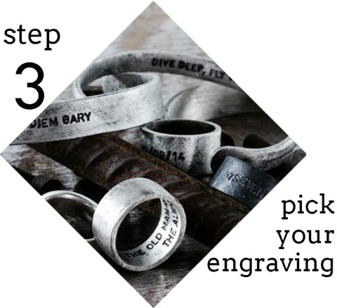 step 3 pick your engraving