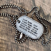 Carpe Diem Silver Personalize Dog Tag Necklace