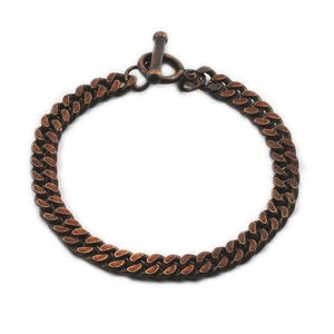 Carpe Diem Rose Gold Mens Chain Bracelet