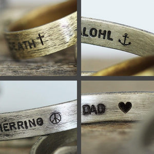 Oxidized Silver Wide Mens Rings