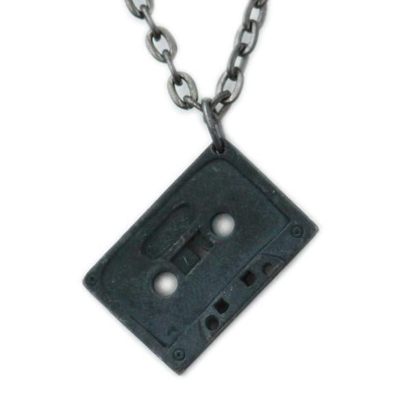 Black Cassette Tape Necklace