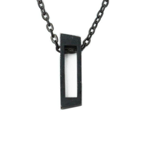 Black Crooked Cube Necklace