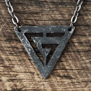Black Geometric Necklace