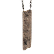 Mens Bronze Necklace Custom Engraved