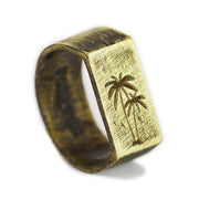 Palm Gold Mens Rings
