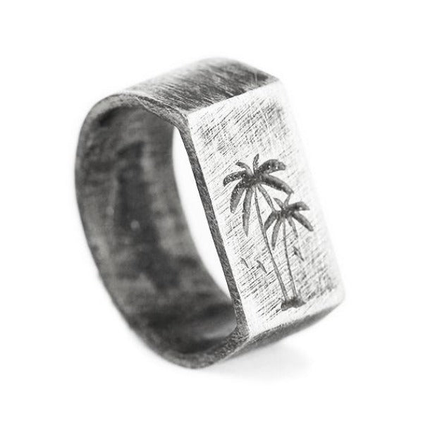 Palm Silver Mens Rings