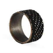 Carpe Diem Brushed Bronze Mens Wedding Band