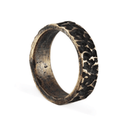 Brushed Bronze Rustic Wedding Ring